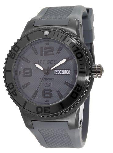 Jet Set J5545B-060 - Reloj analógico de cuarzo unisex con correa de caucho, color gris