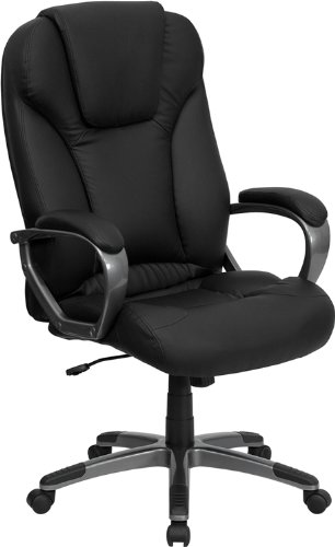 Black Friday Flash Furniture Bt 9066 Bk Gg High Back Black Leather Executive Office Chair Cyber