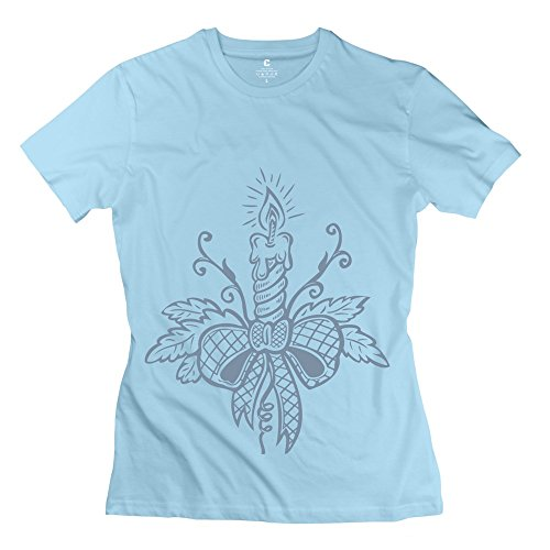 Lady'S O-Neck Tee Christmas Candle Cotton front-1038705