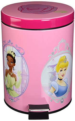 """Disney Princess """"Summer Palace"""" Step-On Waste Can front-102995"""