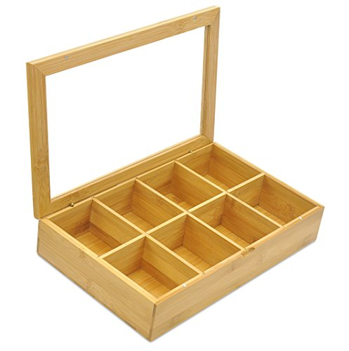 Bamboo Tea Bag Organizer Storage Box from Natural Roost (Inside Cabinet Foil Holder compare prices)