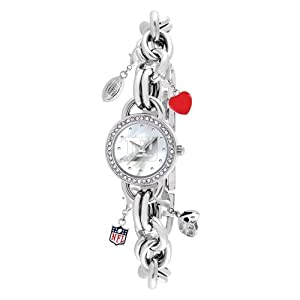 Ladies NFL New York Giants Charm Watch by Jewelry Adviser Nfl Watches
