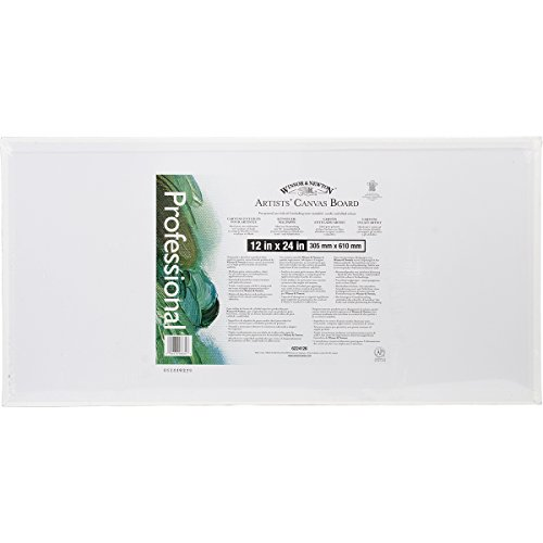 Winsor Newton Artists' Quality Canvas Board, 12 x 24""