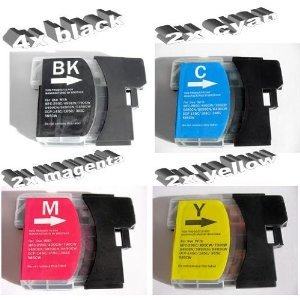 10-x-compatible-printer-ink-cartridges-for-brother-mfc-j-615-w-4x-black-2x-cyan-2-x-yellow-2-x-magen