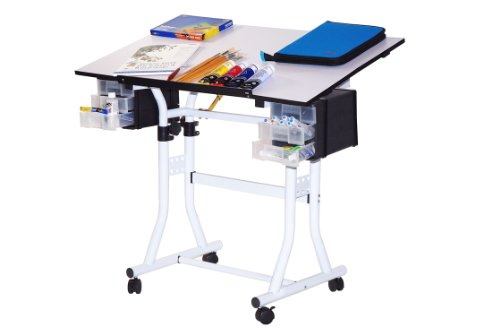 Offex Creation Station Deluxe Hobby Art, Craft & Drawing Table
