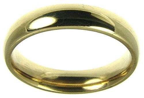 Ladies' Wedding ring, 9 Carat Yellow Gold Medium Court Shape, 4mm Band Width
