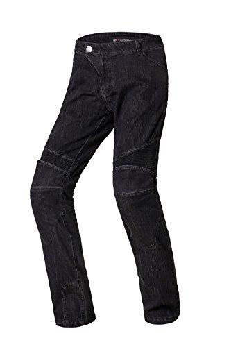 Nerve 22140104_05 Pantaloni Moto Ranger Jeans, Nero, XL