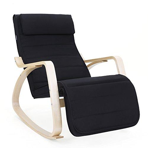 Songmics lyy10m sedia a dondolo con poggia gambe di angolo - Ikea sedia dondolo ...