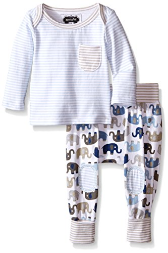 [Mud Pie Baby Take Me Home Set, Elephant, 0-3 Months] (Baby Designer Clothes)