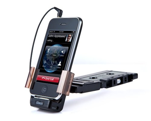 iDeck Integrated Car Cassette Adapter for iPhone 4, 3GS and 3G with Hands-free Function