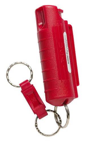 SABRE Compact Pepper Spray with Quick Release Key Ring (Red)