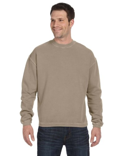 Authentic Pigment 11561 Pigment-Dyed Ringspun Fleece-Mocha-Medium
