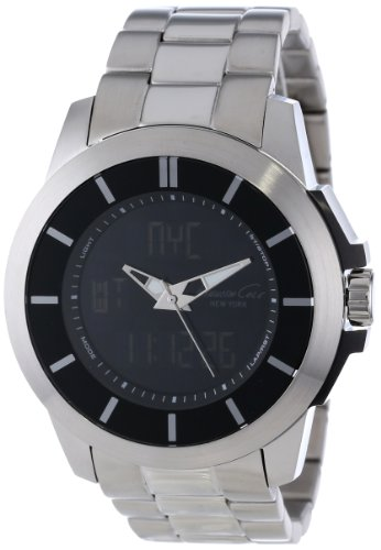 Kenneth Cole New York Men's KC9110 KC-Touch Black Dial Silver Bracelet Touch Screen Watch