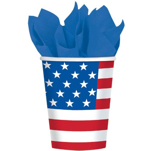 Let Freedom Ring 9oz Paper Cups (8ct)