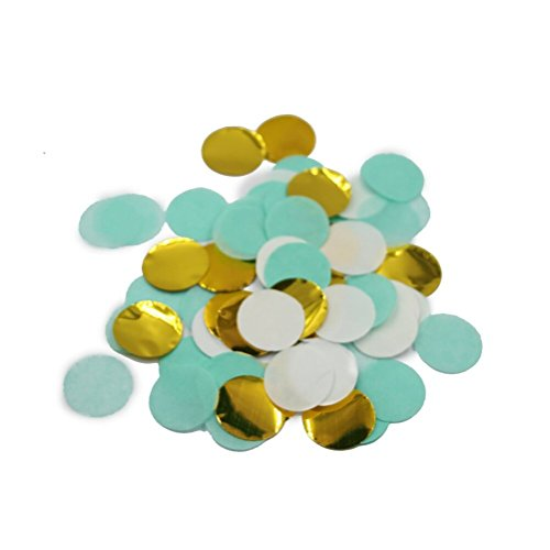 Parmay 1 inch Gold Mint Wedding Party Confetti Pack of 2000