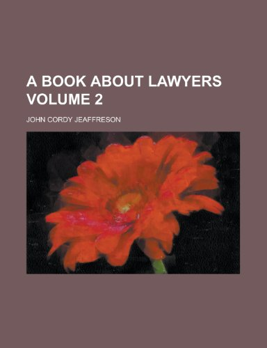 A book about lawyers Volume 2