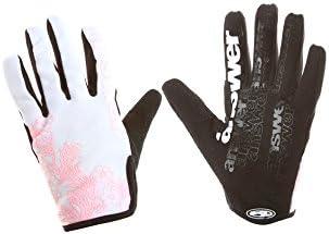 Answer Fall Line Women39s Petal MTB Full Finger Gloves Small WhitePink