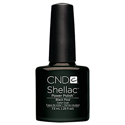Creative Nail Shellac Black pool, 0.25 Fluid Ounce