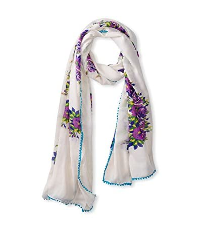 Betsey Johnson Women's Floral Scarf, Cool