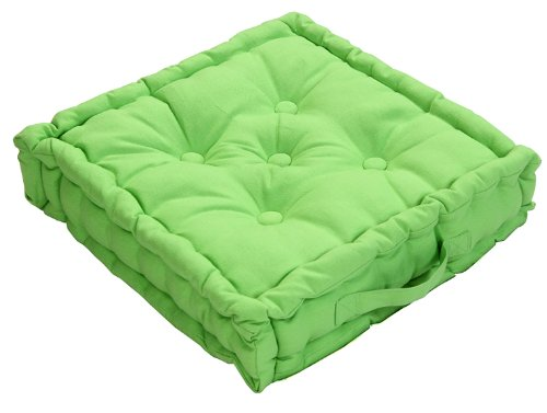ismshidero homescapes coussin de chaise de couleur vert fait en 100 coton de 40x40 cm pour. Black Bedroom Furniture Sets. Home Design Ideas