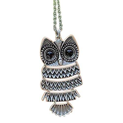 TOP Lady Women Vintage Silver/Copper Owl Pendant