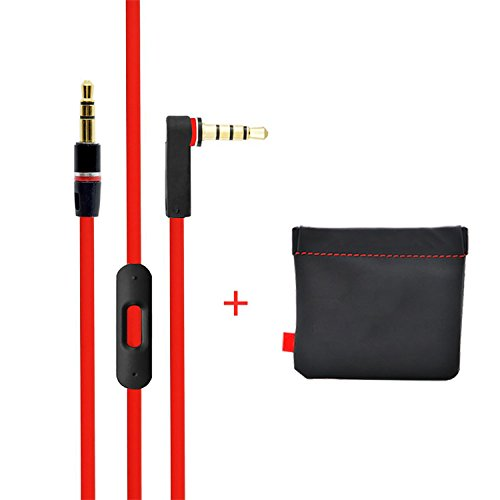 New Replacement Cable/Wire for Beats By Dre Headphones with Leather Pouch