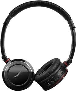 Speedlink Scylla kabelloser Funk-Kopfhörer mit Mikrofon für PS3/Xbox 360/PC (bis zu 10 Stunden Laufzeit, Bedienelemente an der Ohrmuschel, faltbar)