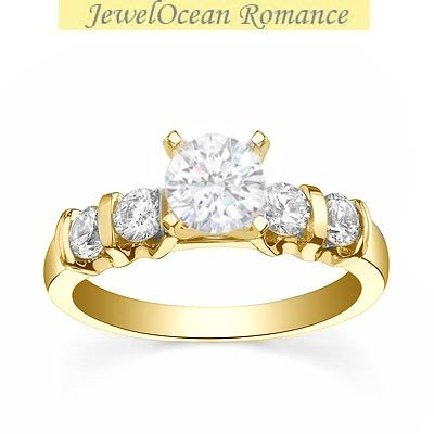0.58 Carat Wedding ring for sale with Round cut Diamond on 14K Yellow gold