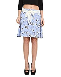 Albely Women's Poly Crape Printed Skirt