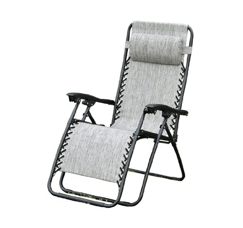 Outsunny Zero Gravity Recliner Lounge Patio Pool Chair - Granite Gray Color at Sears.com