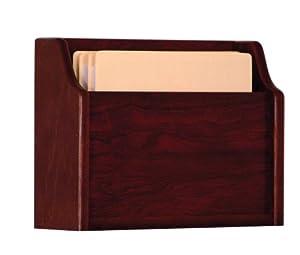 Wooden Mallet Deep Pocket File Holder, Letter Size, Mahogany