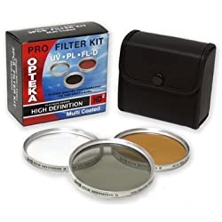 Opteka HDA 3 Piece (UV PL FL) Filter Kit for Panasonic Lumix DMC-FZ20 Digital Camera