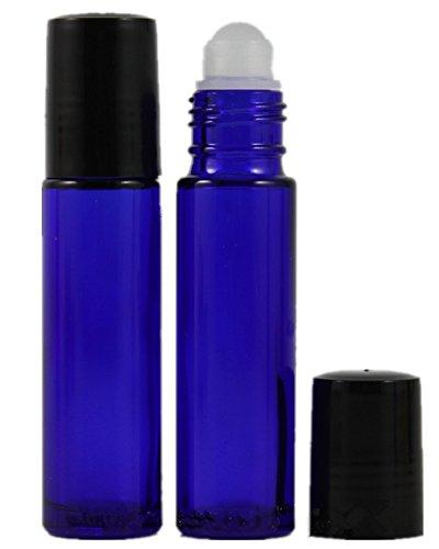 10 ml (1/3 oz) Empty Glass Roll-on bouteilles de parfum rechargeables - Lot de 6