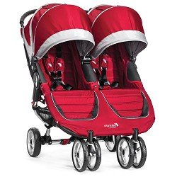 Baby Jogger City Mini Double Stroller, Crimson Gray by BaJogger