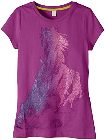 Esprit Girls Horse T-Shirt, Purple (Crushed Violet), 9 Years (Manufacturer Size:X-Small)