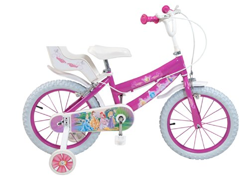 """Toimsa 645 - Bicicletta per bambine """"Principesse"""" 16"""", 5 - 8 anni"""