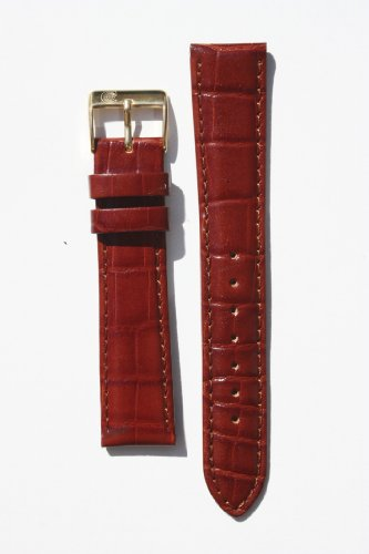 14mm-classic-cognac-genuine-alligator-grain-leather-watchband-with-nubuck-lining-and-gold-plated-buc