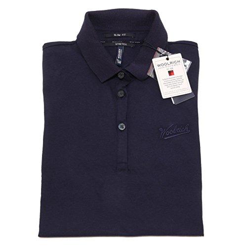 3311O polo manica corta WOOLRICH blu maglie donna t-shirt women [S]