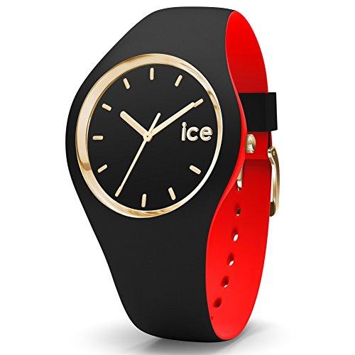 ICE-Watch - 007235 - Loulou Black Gold - Montre Femme - Cadran Noir - Bracelet Silicone Noir