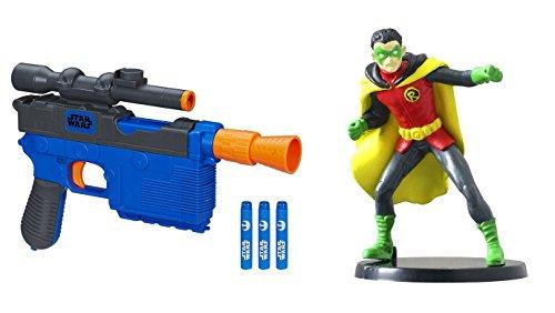 "Nerf Star Wars Episode VII 4 Darts Nerf Han Solo Blaster Free Robin 2.75"" PVC Figure Toys"