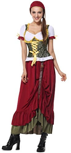 Lusiya Women's Renaissance Wench Costume