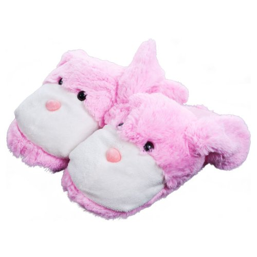 Kids Cuddlee Slippers - Bunny - (Ages 6 - 12) back-529940