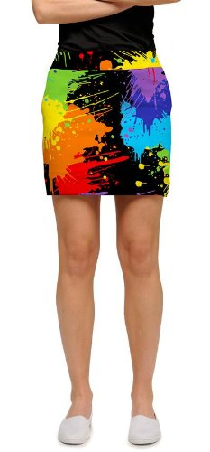Loudmouth Golf Ladies Skorts: Paint Balls - Size 8 by Loudmouth Golf