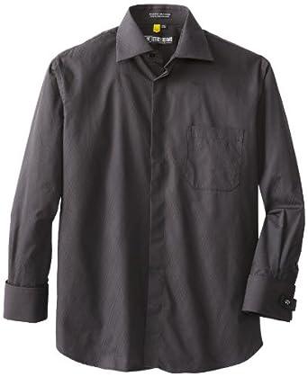 Stacy Adams Men's Montreal Dress Shirt, Ebony, 14.5 - 32/33
