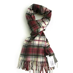 Red Dress Macduf Tartan Cashmere Scarf  Authentic Cashmere Scottish Scarves for Men & Women  Made in Scotland