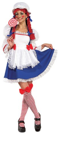 Rag Doll Costume, Blue, Large