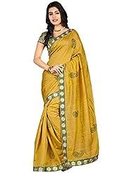 FabPandora Bhagalpuri Silk Pista Green Saree
