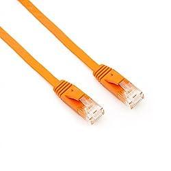 Pasow CAT 6 Ethernet Cable Flat Snagless Network Patch LAN Cord 1.5 Feet Orange Orange 3 Feet