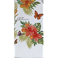 Tropical Floral & Butterflies Terry Towel (1) Elena Vladykina