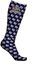Queens College Knights Socks Wallpaper Navy Design pair